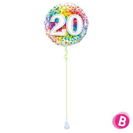 Ballon Anniversaire 20 Multicolore