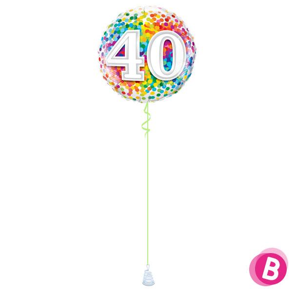 Ballon Anniversaire 40 Multicolore