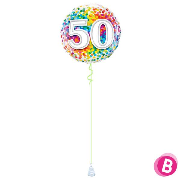 Ballon Anniversaire 50 Multicolore
