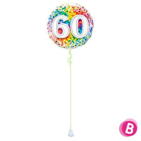 Ballon Anniversaire 60 Multicolore