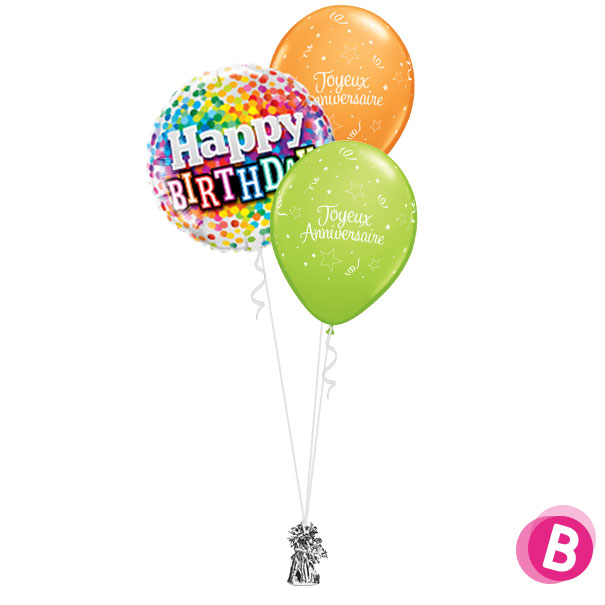 Bouquet Classic Happy Birthday Multicolore
