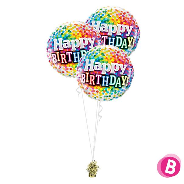 Ballons anniversaire Multicolore Trio