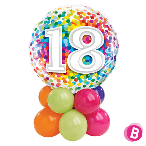 Ballon Anniversaire 18 Multicolore Décor de table