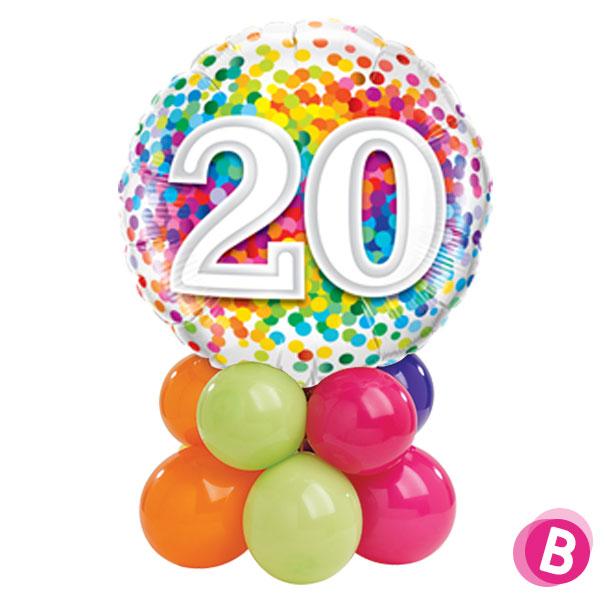 Ballon Anniversaire 20 Multicolore Décor de table