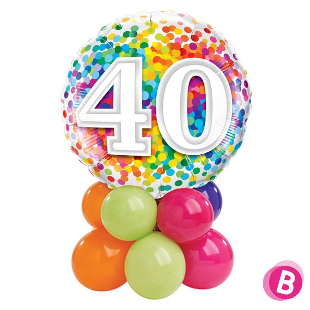 Ballon Anniversaire 40 Multicolore Décor de table