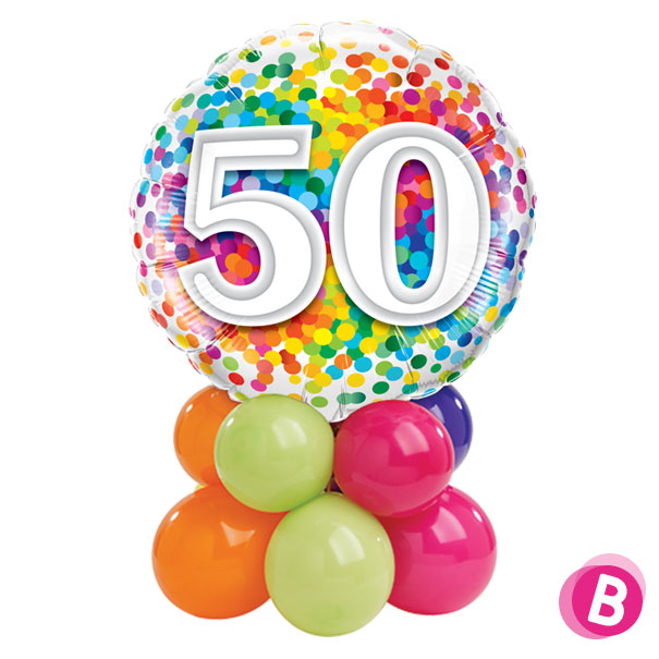 Ballon Anniversaire 50 Multicolore Décor de table