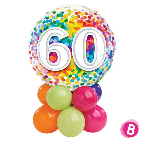 Ballon Anniversaire 60 Multicolore Décor de table