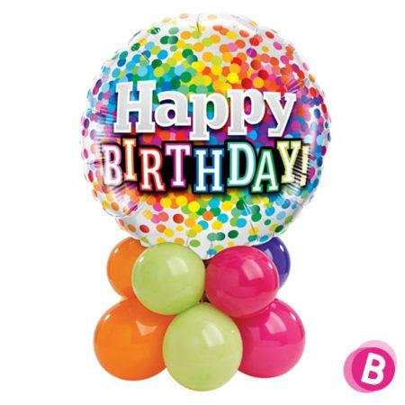 Décor de table Happy Birthday Multicolore