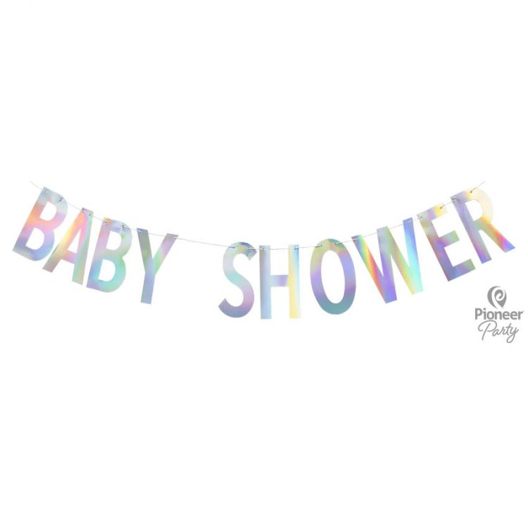 Guirlande Baby Shower Irisée 2m