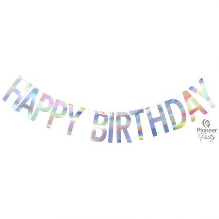 Guirlande Happy Birthday Irisée 2m