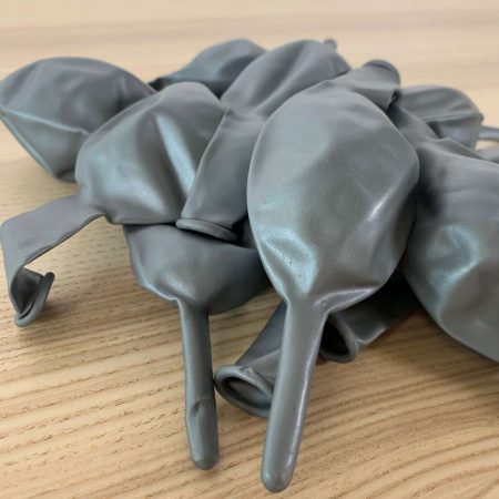 10 ballons de construction Argent