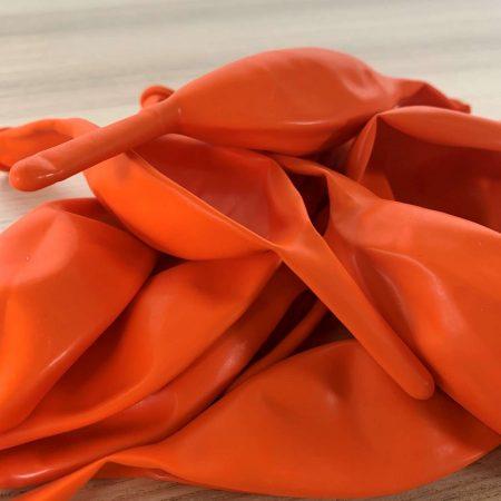 10 ballons de construction Orange 30cm