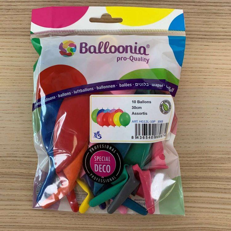 Pochette ballons de construction Multicolore 30cm