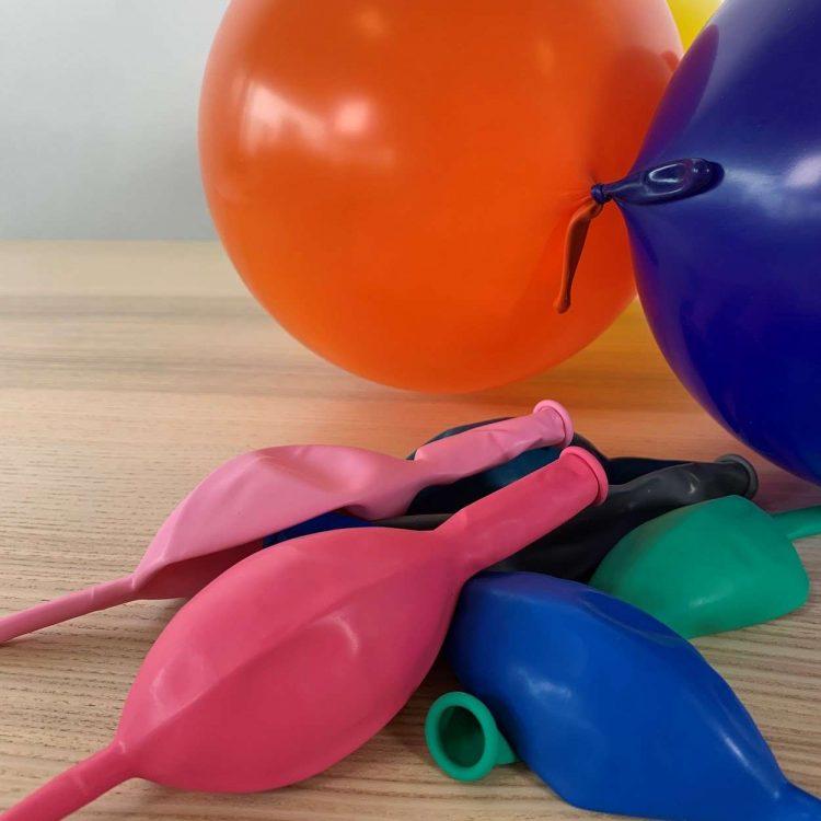 Lot 10 ballons de construction Multicolore