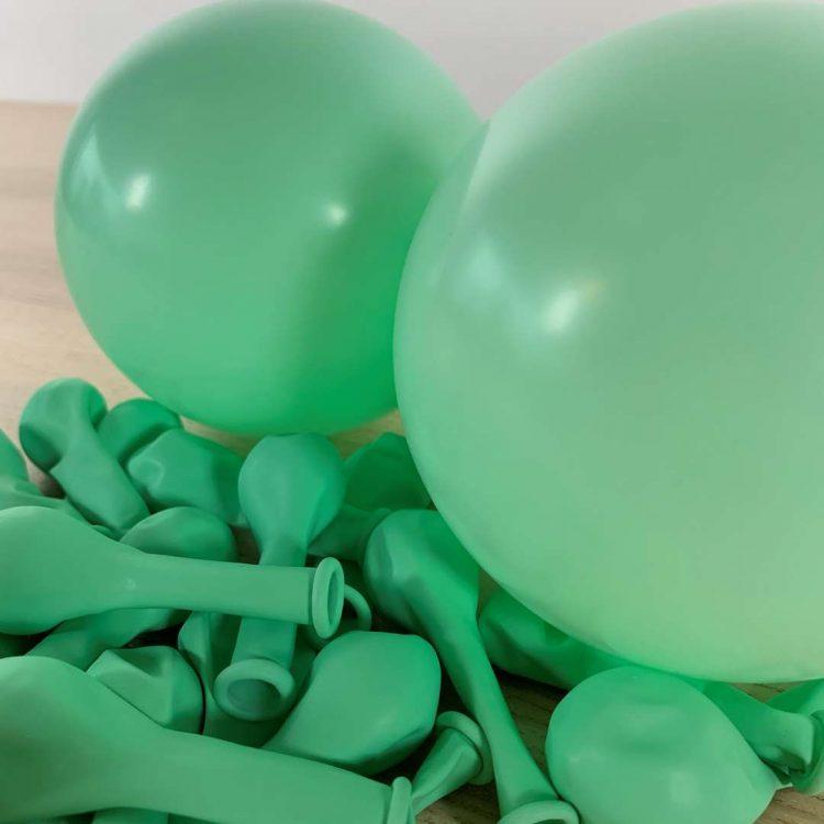 Ballons 13cm Pastel menthe