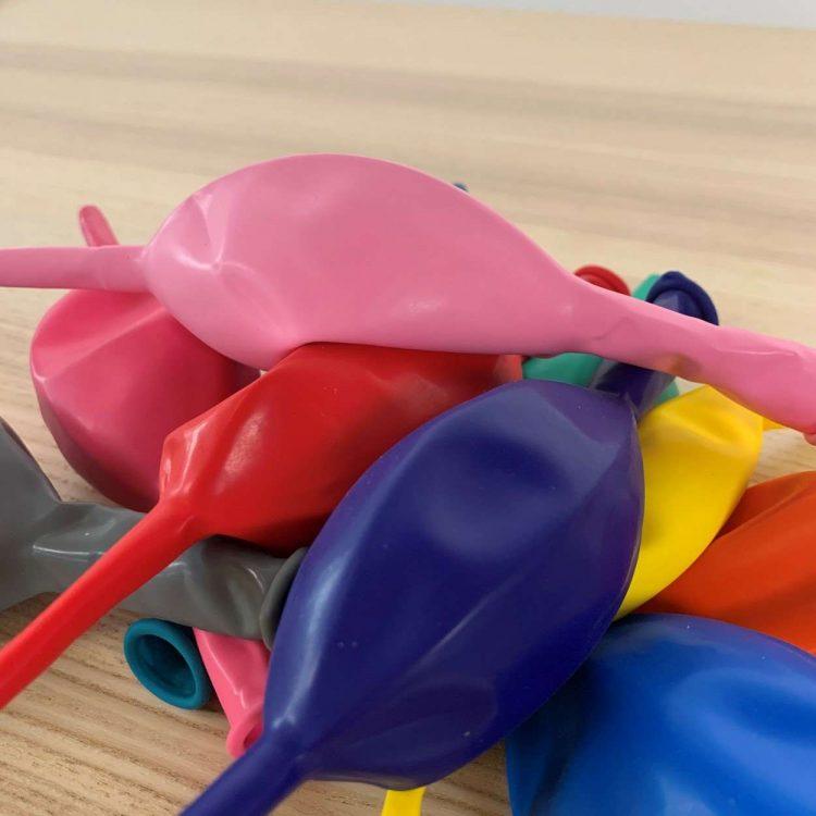 10 ballons de construction Multicolore