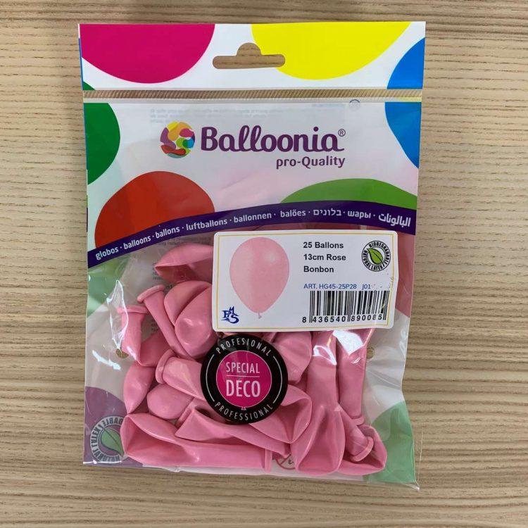Pochette 25 ballons Rose Bonbon 13cm