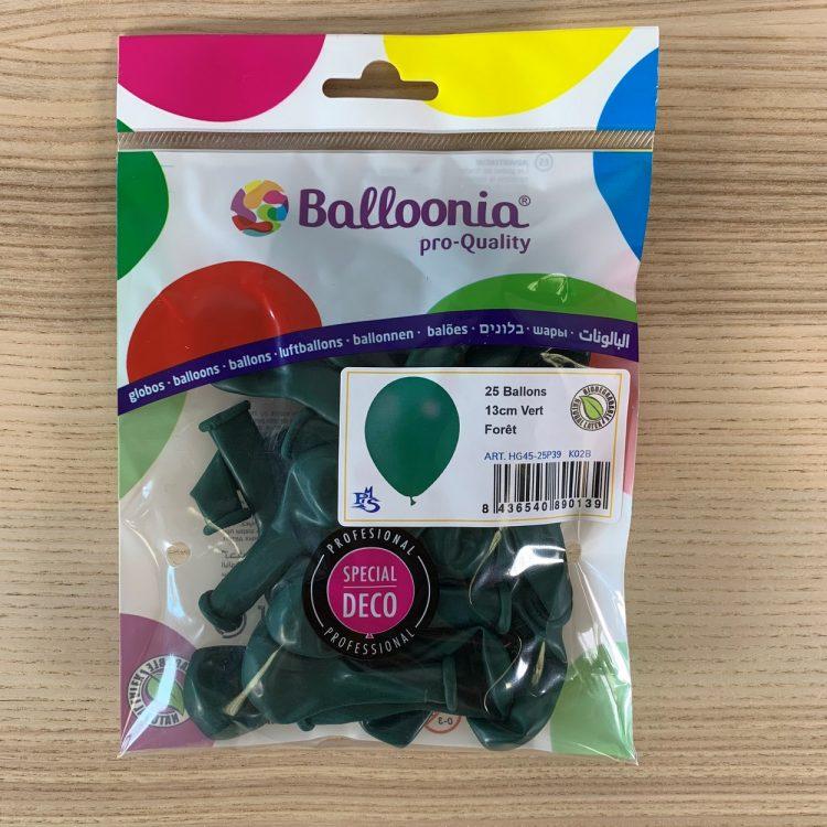 Pochette 25 ballons Vert Forêt