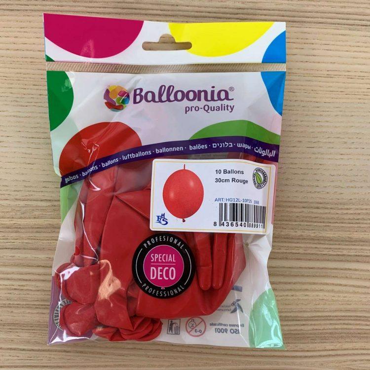 Pochette ballons de construction Rouge 30cm