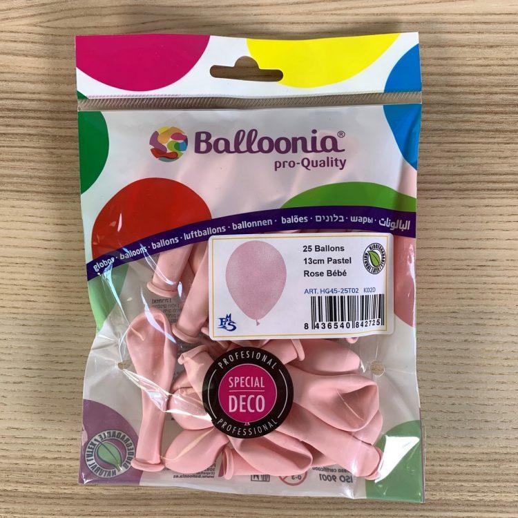 Pochette de 25 ballons Rose Pastel