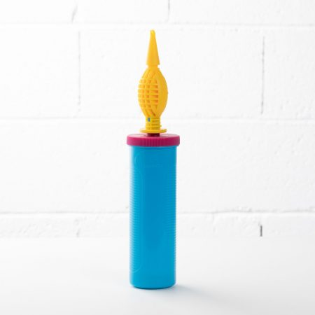 pompe double action bleue et jaune