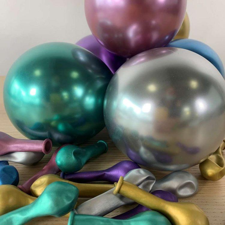 Ballons Brillant Assortis 13cm