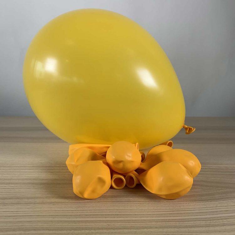 ballon jaune d'or 30cm gonflé