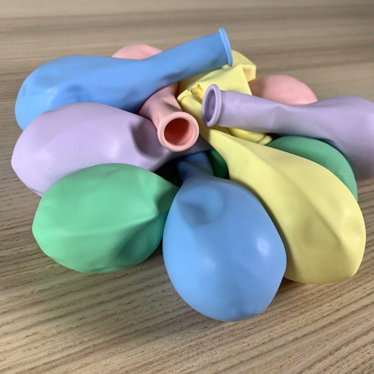 pochette ballons 30cm assortiment pastel