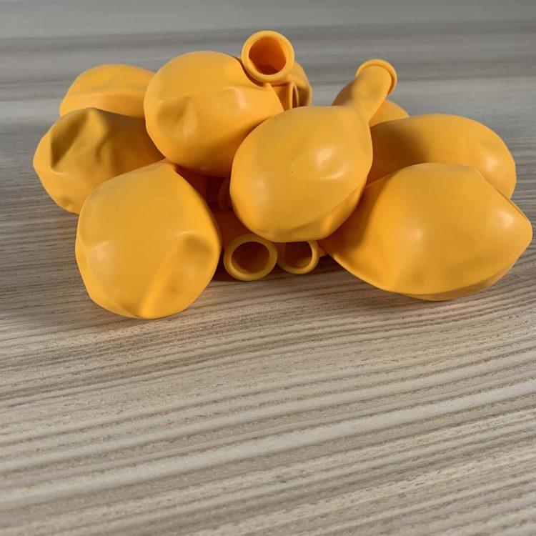 pochette ballons 30cm jaune or