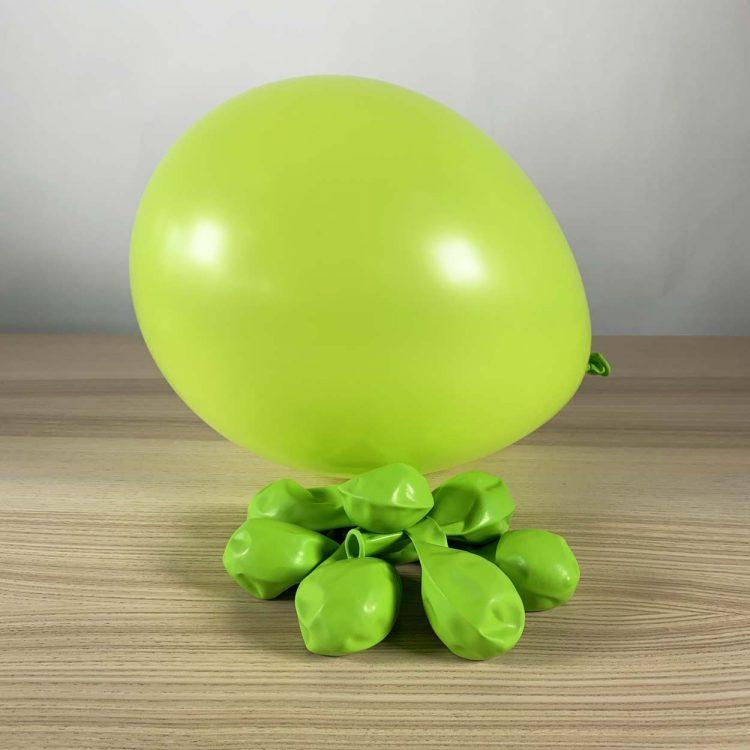 ballons limette 30cm gonflé