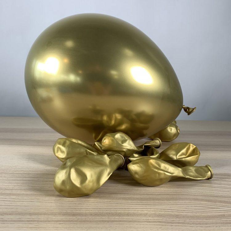 ballons 30cm or brillant gonflés