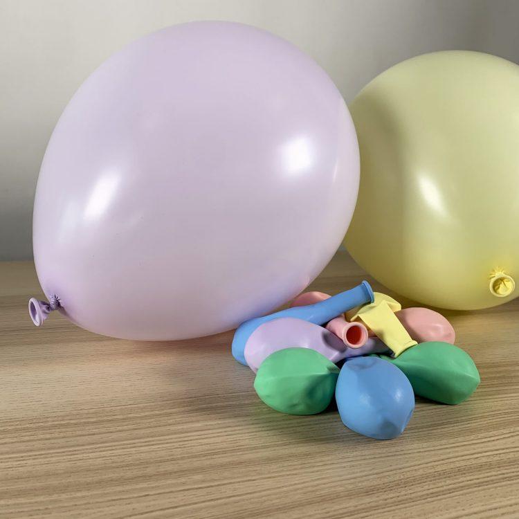 ballons 30cm pastel gonflés