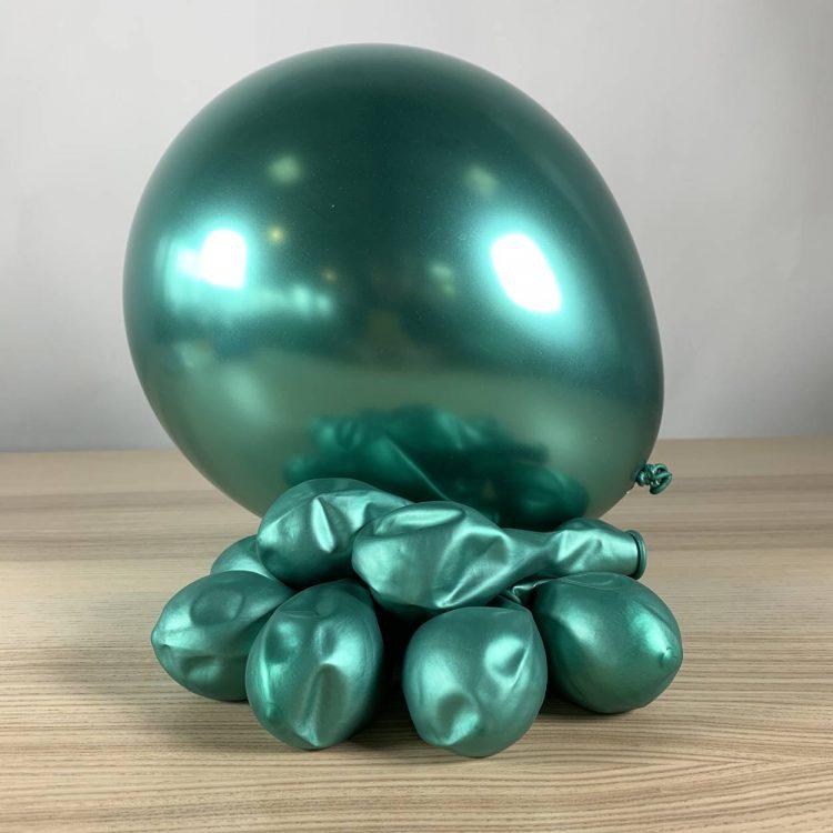 ballons 30 cm gonflé vert brillant