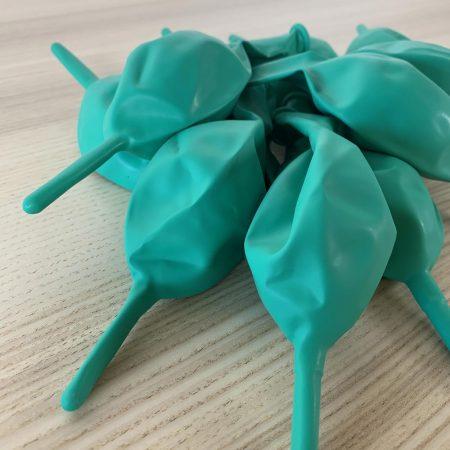 10 ballons construction menthe