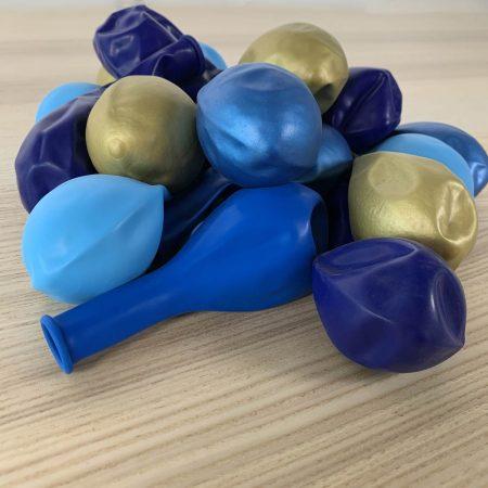 20 ballons 30cm bleu et or