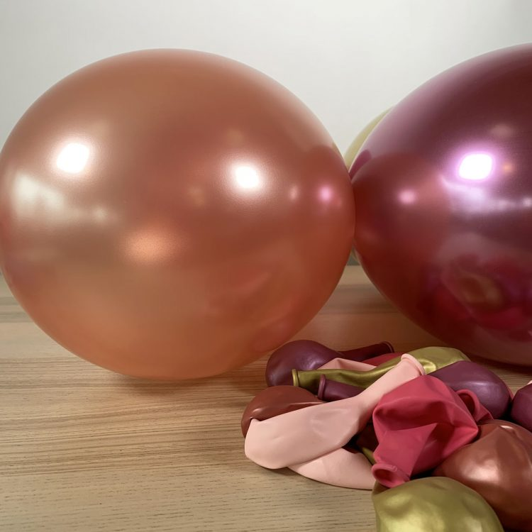 20 ballons rose et or gonflés