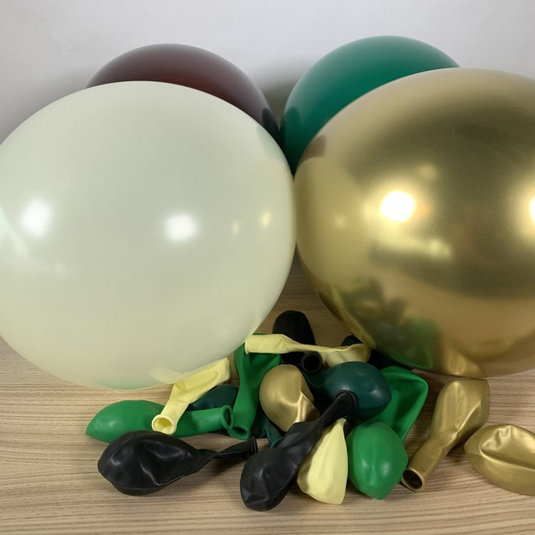 20 ballons gonflés nature gold