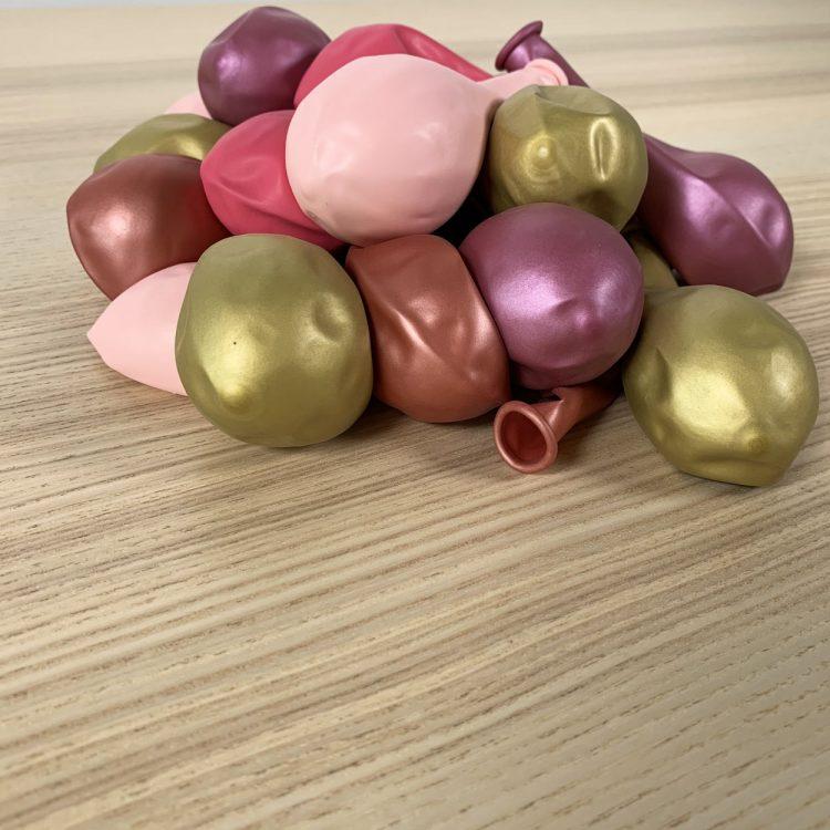 20 ballons 30cm rose et or