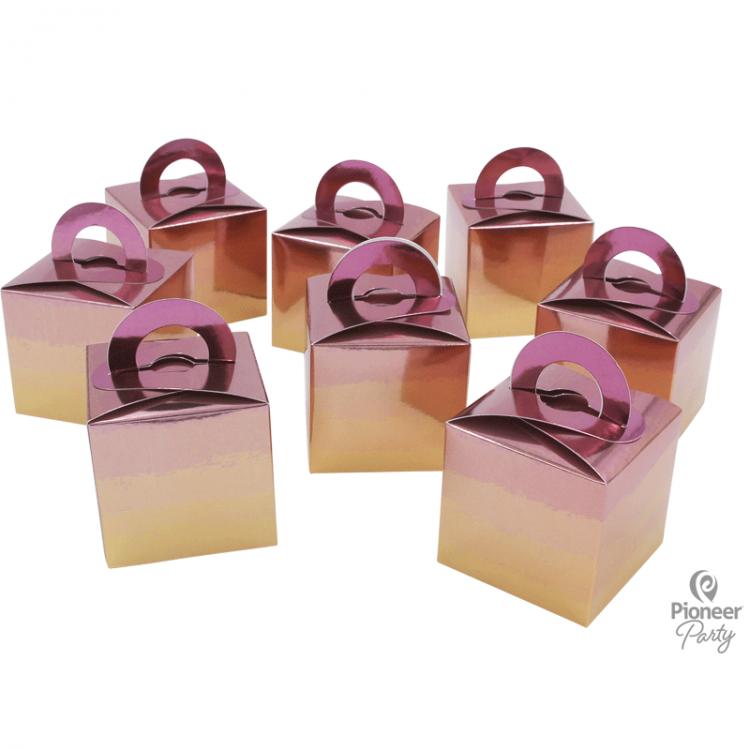 8 Boites Cadeaux Rose Gold