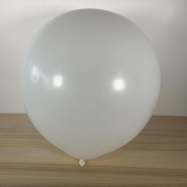 Ballon 60cm Blanc Gonflé