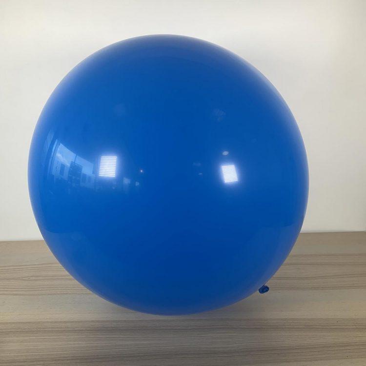 Ballon 60cm Bleu Roi Gonflé