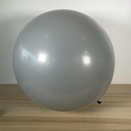 Ballon 60cm Gris Gonflé