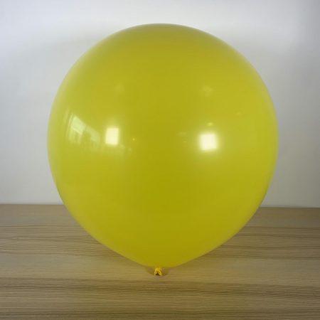 Ballon 60cm Jaune Citron Gonflé