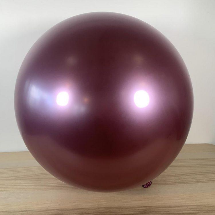 Ballon 60cm Mauve Brillant Gonflé