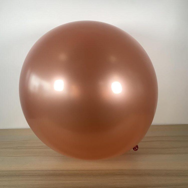 Ballon 60cm Rose Gold Métal Gonflé