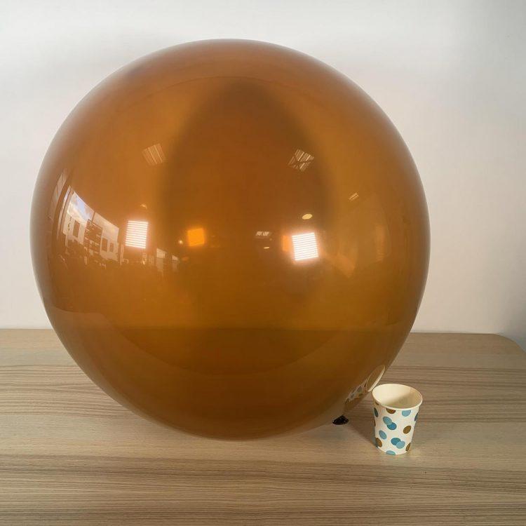 Ballon géant 60cm marron