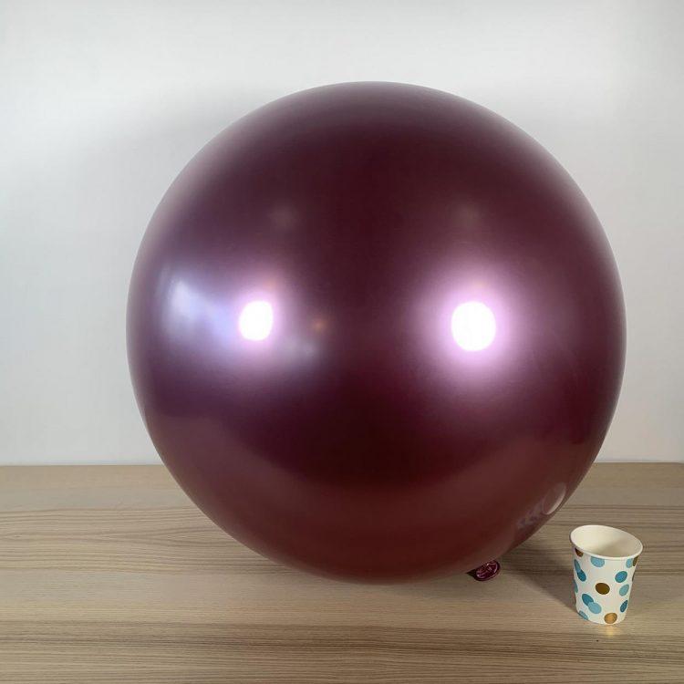 Ballon géant 60cm Mauve Brillant