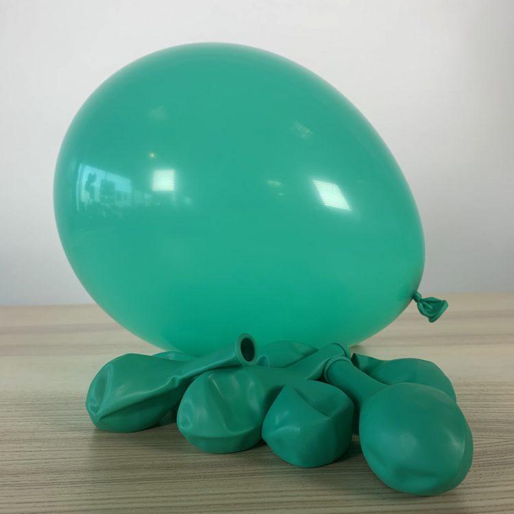 Ballons 30cm menthe Gonflés