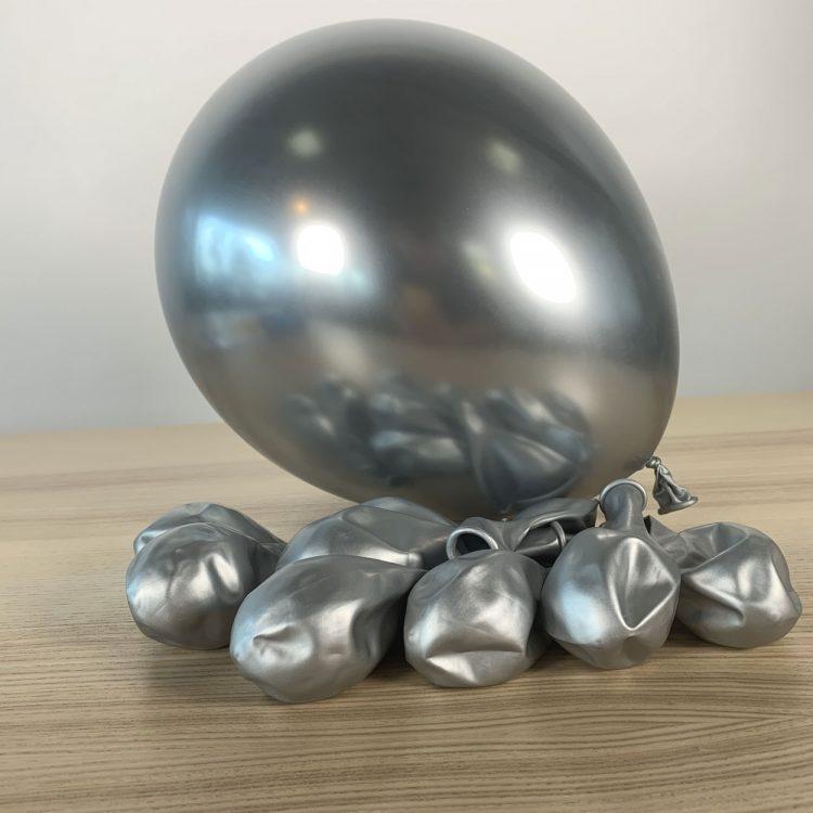 Ballons 30cm Argent brillant