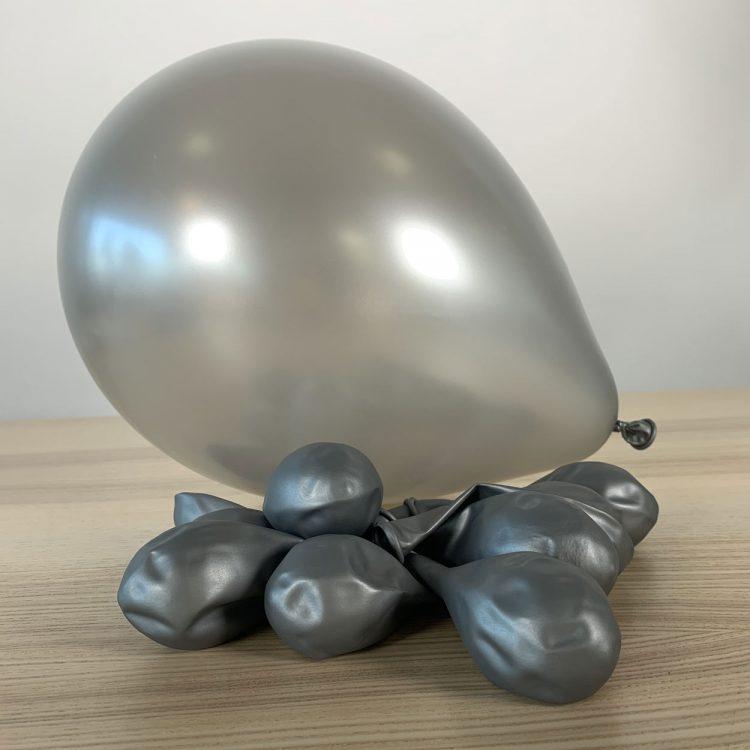 Ballons 30cm Métal Argent